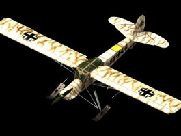 Fi 156C-5 Storch liaison aircraft 3d model