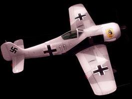 Fw 190 fighter aircraft 3d model