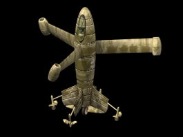 Focke-Wulf Triebflugel 3d model