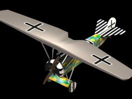 Fokker D.VII fighter 3d model