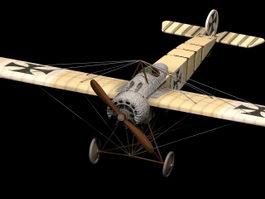 Fokker Eindecker fighter 3d model