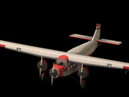 Ford A5 TriMotor transport aircraft 3d model