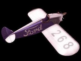 Ford Flivver Light aircraft 3d model