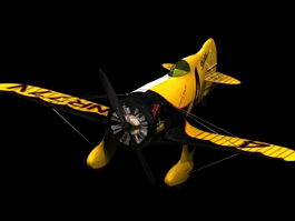 Gee Bee Model Z racing aircraft 3d model