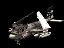 Grumman EA-6B Prowler aircraft 3d model