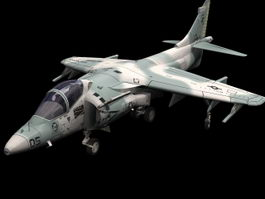 AV-8B Harrier attack aircraft 3d model