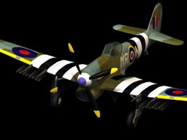 Hawker Typhoon fighter-bomber 3d model
