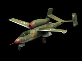 Heinkel He 162 fighter 3d model