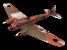 Heinkel He 111H bomber 3d model