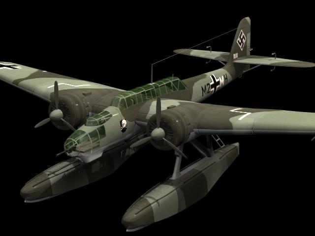 Heinkel He 115C torpedo bomber 3d model