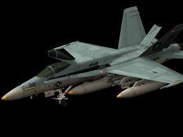 Boeing Super Hornet fighter 3d model