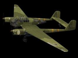 Wulf Fw 189 reconnaissance aircraft 3d model