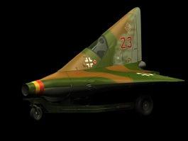 Lippisch P.13a interceptor fighter 3d model