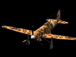 Macchi M.C.205V Veltro fighter 3d model