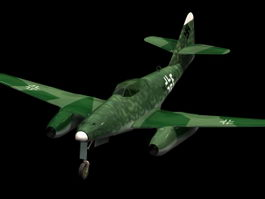 Messerschmitt 262 fighter aircraft 3d model