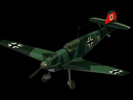 Messerschmitt Bf 109B Fighter 3d model