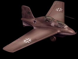 Messerschmitt Me 163 fighter aircraft 3d model