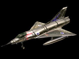 Mirage III interceptor aircraft 3d model