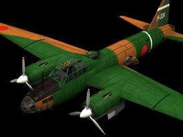 Mitsubishi G4M medium bomber 3d model