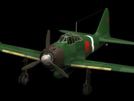 Mitsubishi Zero fighter 3d model