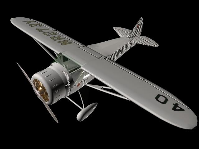 Howard Dga 6 Racing Aircraft 3d Model 3dsmax Files Free