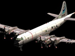 P-3C Orion maritime patrol aircraft 3d model