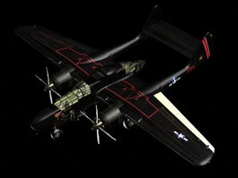 P-61 Black Widow night fighter 3d model