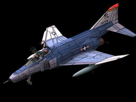 F-4 Phantom fighter-bomber 3d model