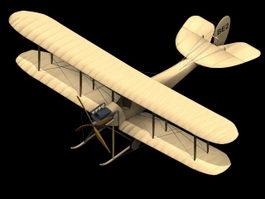 RAF B.E.2 biplane 3d model