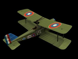 RAF SE.5 single-seat fighter 3d model
