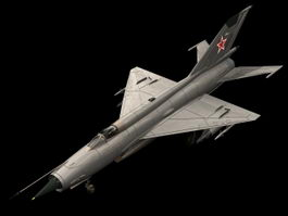 MiG-21 supersonic jet fighter 3d model