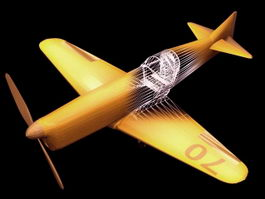 Firecracker trainer aircraft 3d model