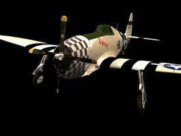 P-47 Thunderbolt fighter-bomber 3d model