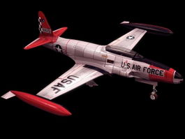 T-33 Shooting Star training aircraft 3d model