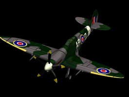 Supermarine Spitfire Mk XIV fighter 3d model