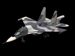 Sukhoi Su-34 fighter-bomber 3d model