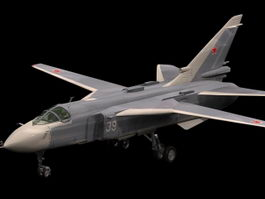 Sukhoi Su-24 Fencer attack aircraft 3d model