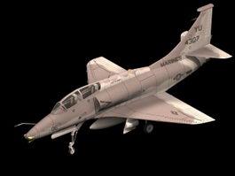 A-4SU Super Skyhawk fighter-bomber 3d model