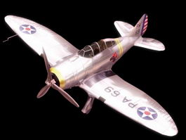 Seversky P-35 fighter aircraft 3d model