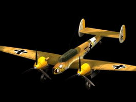 Messerschmitt Bf 110 F fighter bomber 3d model
