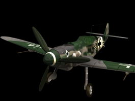Messerschmitt Bf 109 fighter 3d model