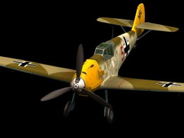 Messerschmitt Bf 109 E fighter 3d model