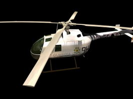 BO 105 utility helicopter 3d model