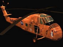 Sikorsky H-34 helicopter 3d model