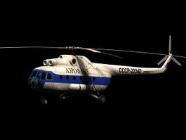 Mil Mi-8 Hip transport helicopter 3d model
