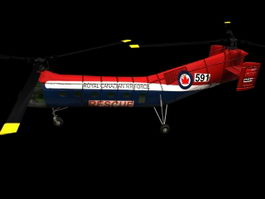 H-21 Workhorse cargo helicopter 3d model