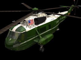 VH-3D Sea King helicopter 3d model