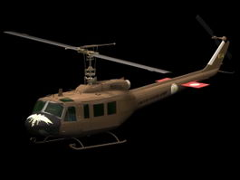 UH-1H military helicopter 3d model