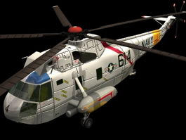 Sikorsky SH-3 Sea King helicopter 3d model