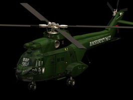 Aérospatiale SA 330 Puma helicopter 3d model